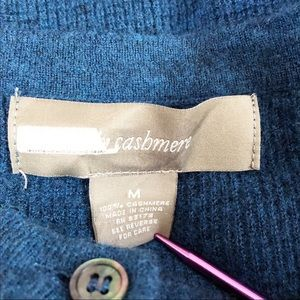 ply cashmere Sweaters - Ply Cashmere Long Sleeve Blue Knit Button Pullover